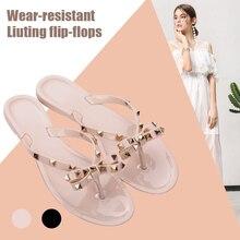 1 Pair Women Flip-Flops Slippers Flat Breathable Anti-Slip Fashion for Summer Beach ED889
