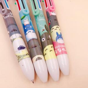 Image 5 - 36 pcs/lot Totoro 6 colors Ballpoint Pen Cartoon animal ball pen School Office writing Supplies Stationery Gift