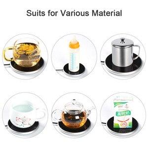 Кофейная кружка, подогреватель чашек для офиса, домашнего стола, для использования какао, чая, воды, молока, электрический подогреватель напитков с таймером, 2 температурных режима