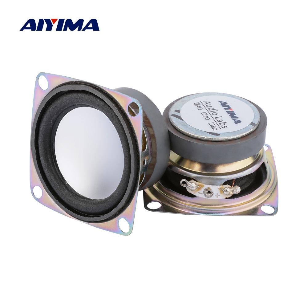 """2pc 1.5/"""" inch 43mm 8ohm 5W Full Range Audio Speaker Stereo Loudspeaker Subwoofer"""
