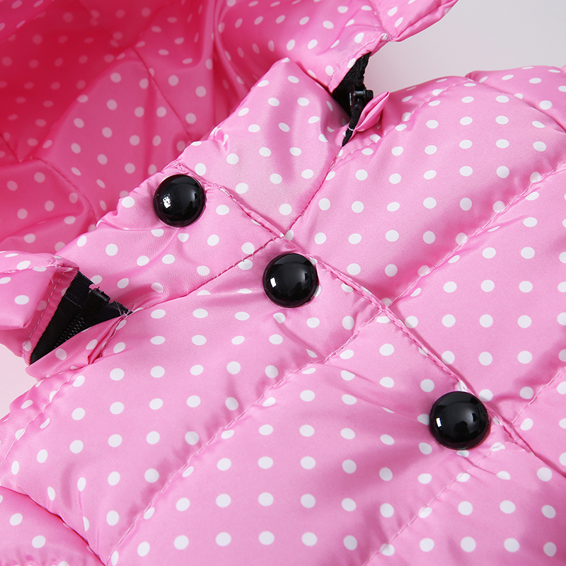 6 Bibihou Winter Coats Kids Clothes Children Clothing Cotton Girl Coat Jacket Fashion Warm Outerwear Jackets For Girls Minnie dot
