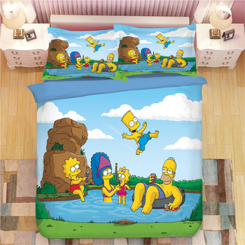 Cute Simpson Bedding Set Duvet Covers Pillowcases One Piece comforter 1