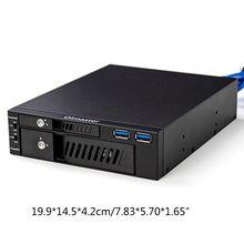 "2021 NewMR-6203 2.5/3.5"" Internal HDD SSD Case Box Dual USB Optical Drive Mobile Rack Station Hard Disk Enclosure for Desktop PC"