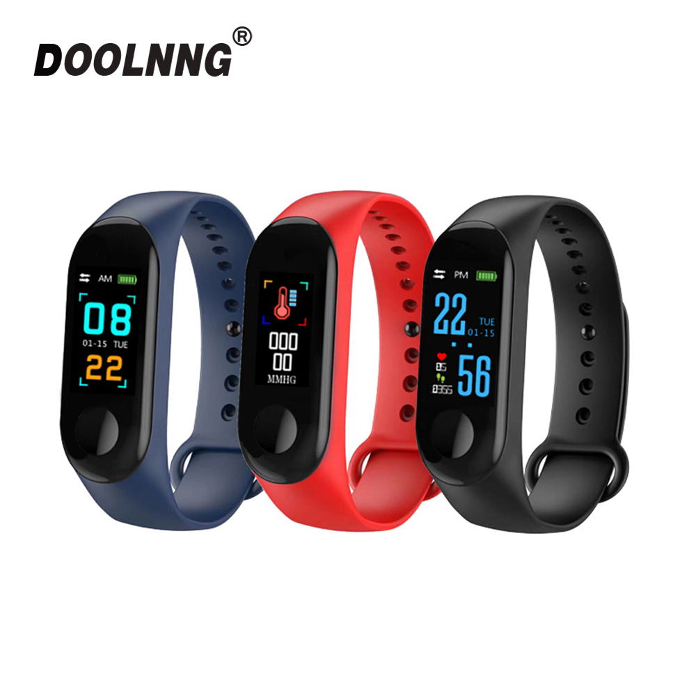 Doolnng M3 Plus Sport Fitness tracker Watch Smartband Smart Bracelet Blood Pressure Heart Rate Monitor Smart band Wristband Men