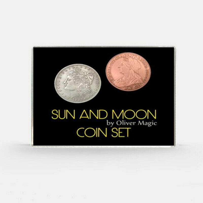 Sun And Moon Coin Set By Oliver Magic Coin Magic Tricks Illusion Close Up Magic Coin Appearing/Vanish Stage Magia Props Gimmick