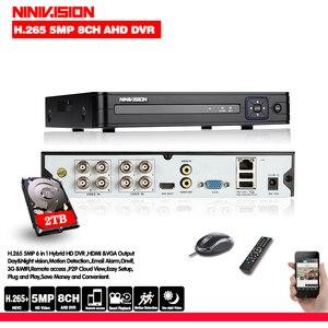 Новый DVR 8-канальный видеорегистратор H.265 + 5MP 4MP 1080P 8CH 5 в 1 Гибридный DVR с функцией 3G Wifi для CCTV XVi TVi CVI IP камеры