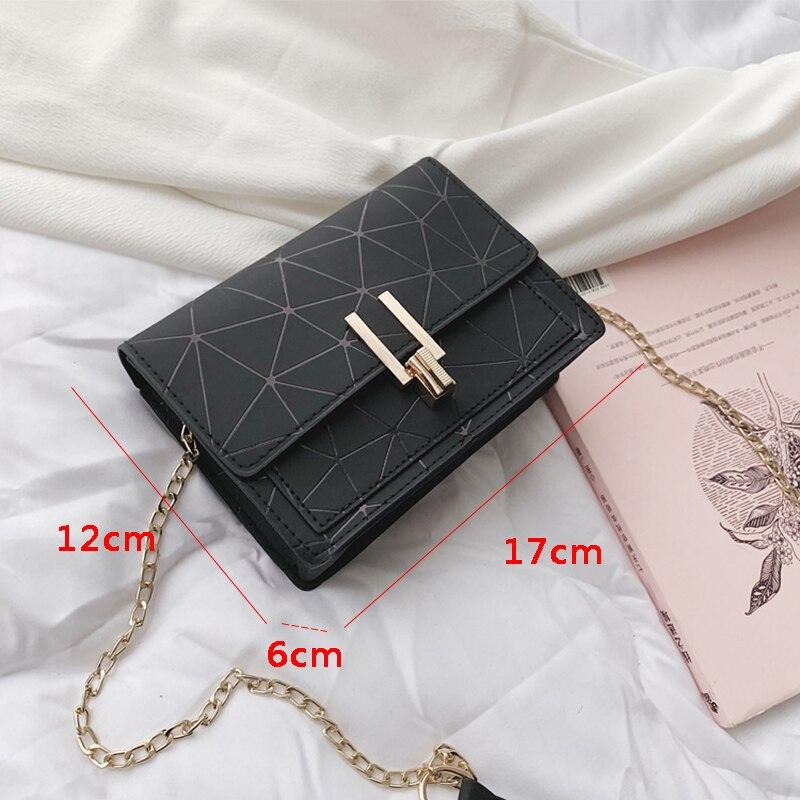 Women Fashion Shoulder Messenger Bags Ladies Geometric Plaid Crossbody Handbag Female Mini Flap Bag New Korean Style Tote SS0425 (16)