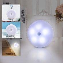 Lampada da parete a LED con sensore di movimento lampada da notte ricaricabile USB lampada da parete magnetica per scale per corridoio bagno camera da letto cucina