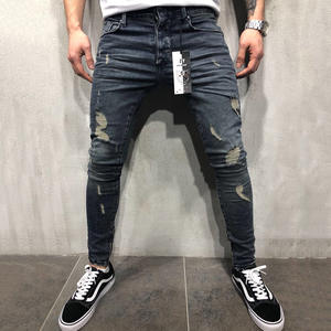Skinny Jeans Trousers Ripped Streetwear Slim Fashion Denim Brand Male Masculina D25 Hip-Hop