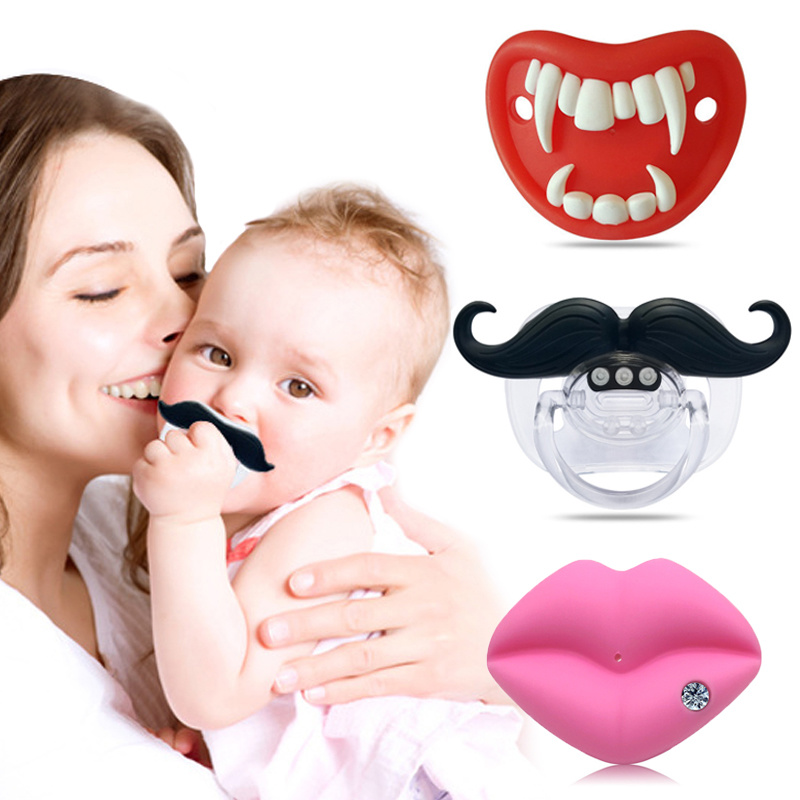 Baby Pacifier Kiss Lips Dummy Pacifiers Food Grade Funny Silicone Baby Nipples Teether Soothers Pacifier Baby Dental Care