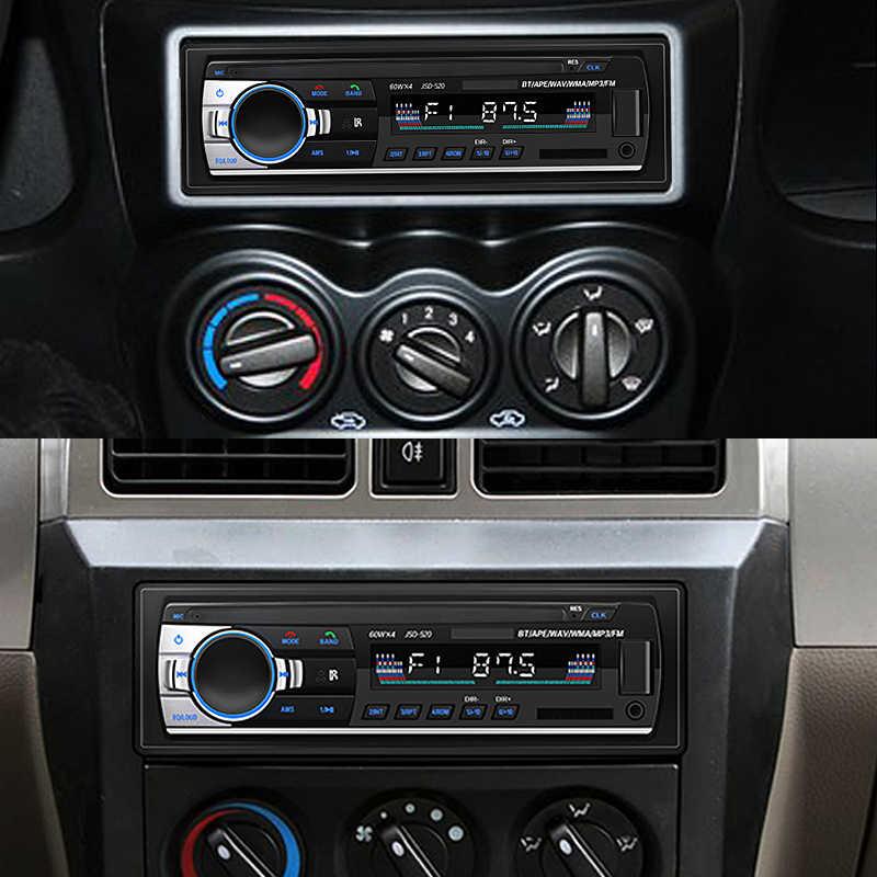 新しい bluetooth autoradio カーステレオラジオ fm aux 入力レシーバ sd usb JSD-520 12 12v ダッシュ 1 din 車 MP3 マルチメディアプレーヤー