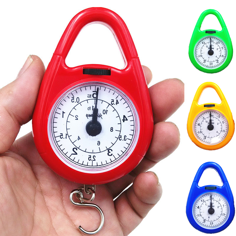 5Kg Spring Scale Portable Needle Hanging Fishing Hook Mechanical Pocket Weighing Scale Luggage Weight Kitchen Balance Steelyard