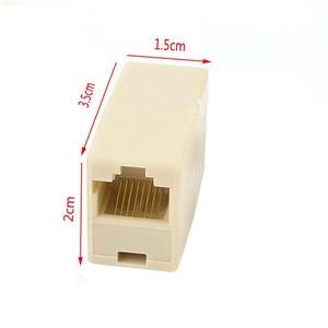 Image 2 - 10Pcs RJ 45 SOCKET RJ45 Splitter Connector CAT5 CAT6 LAN Ethernet Splitter Adapter Network Modular Plug For PC Lan Cable  Joiner