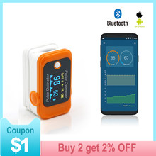 Android iOS Bluetooth Fingertip Pulse Oximeter home Oximetro Finger Heart Rate monitorx pulso Oxymeter Pulsioximetro LED