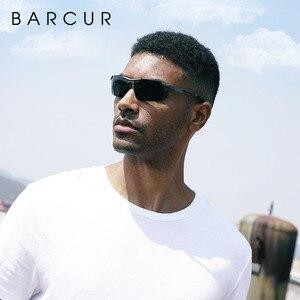 Image 4 - BARCUR Aluminum Magnesium Sports Polarized Sunglasses Men Mirror Sun Glasses Male oculos
