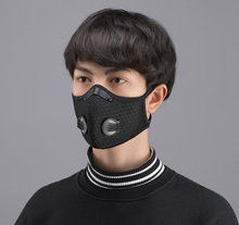 PM2.5 Mouth Mask Anti-dust Mask Reusable Mask with Breathing Valve Cotton Masks Washable Mouth Face Masks Filter Pad In Stock