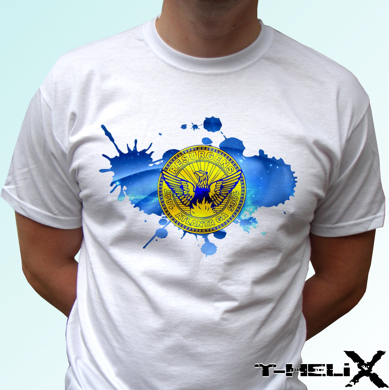 100% Cotton 100% Cotton Print Mens Summer O-Neck Atlanta City Flag - White T Shirt Top Usa Design - Menst Shirt Design Template