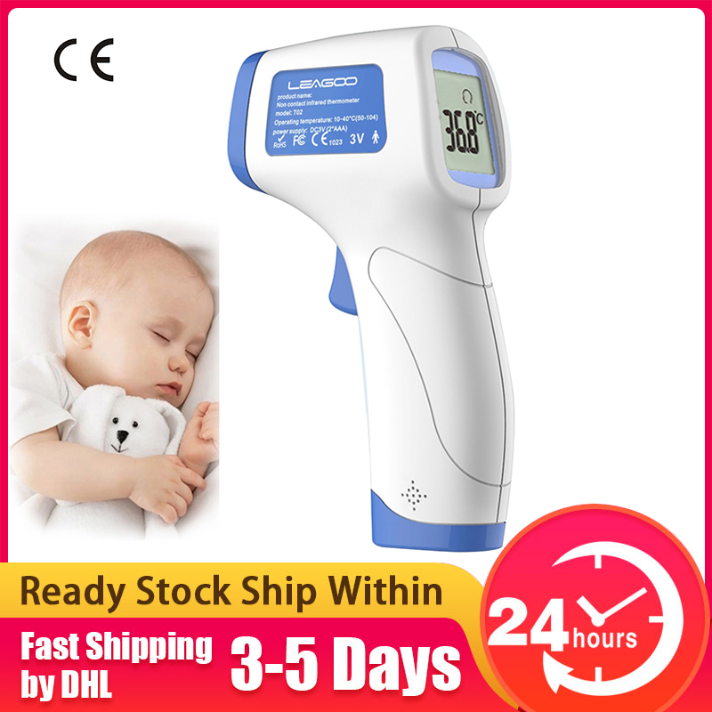 LEAGOO T02 LCD Display Digital Non-contact Forehead Body Infrared Thermometer Temperature Measurement Termometer CE Certificated
