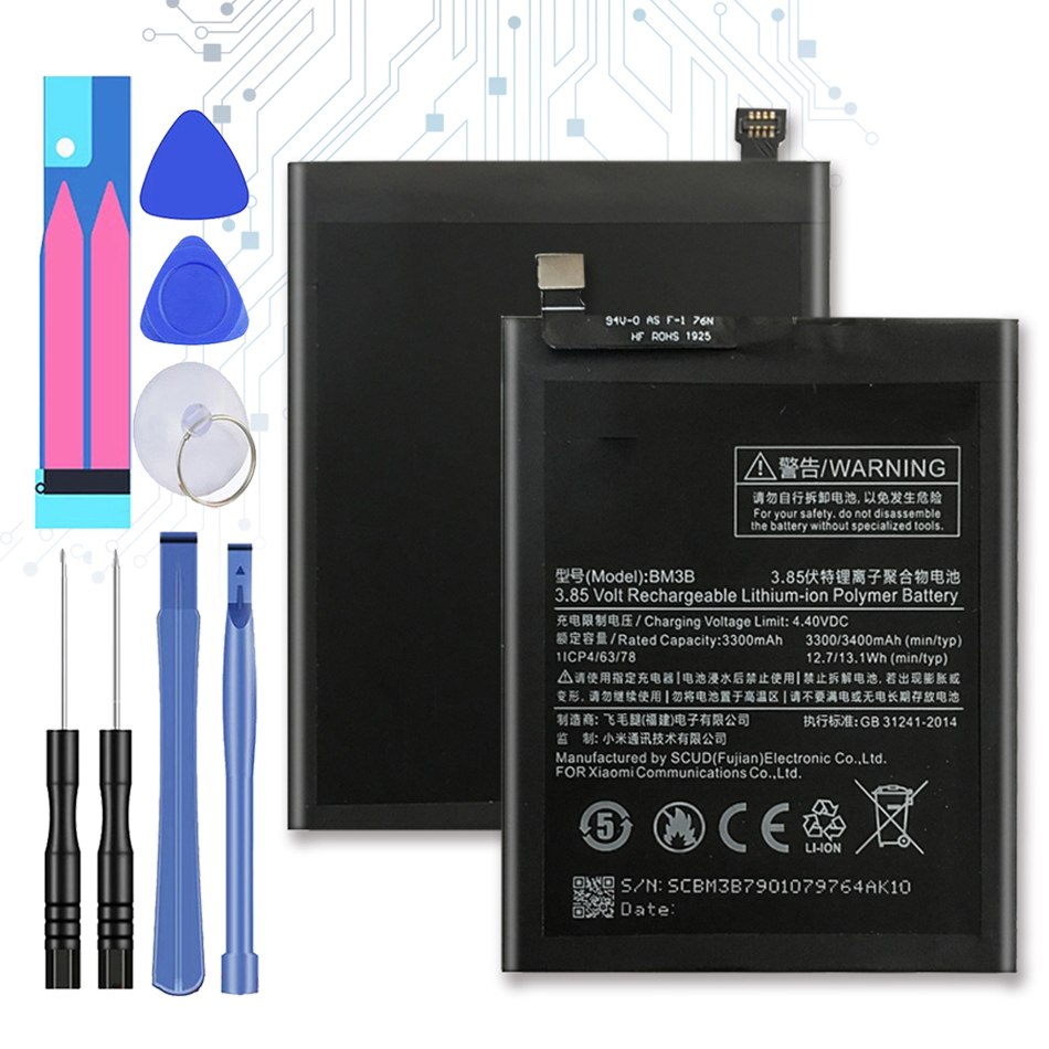BM3B Replacement <font><b>Battery</b></font> For Xiaomi <font><b>MIX</b></font> 2 <font><b>2S</b></font> 3300mAh For Xiao <font><b>mi</b></font> MIX2 BM 3B with Track Code image