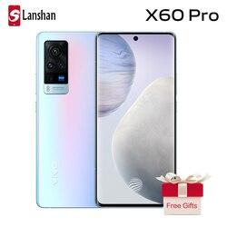 Оригинальные новые vivo X60 Pro Двойной 5G мобильного телефона NFC Samsung Exynos 1080 6,56 ''3D гибкий AMOLED 120 Гц перепрошить скорость мобильного телефона