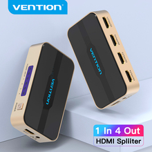 Convenio HDMI Splitter 1 en 4 interruptor HDMI 4K, HDCP 2,0 HDMI 1x2 1x4 adaptador de fuente de alimentación para Xbox PS4 TV HDMI Switcher