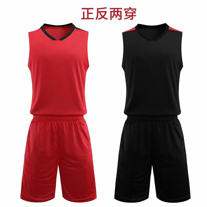 Two-faced Quick Dry Sweatsuit 2 Piece Set Men's Fitness Running Basketball Training Sportswear  Track Jogger Suits For Men Tanks