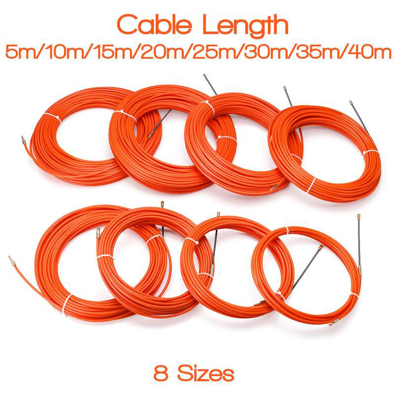 6.5mm x 25m Cable Push Puller Conduit Snake Cable Rodder Fish Tape Wire Guide