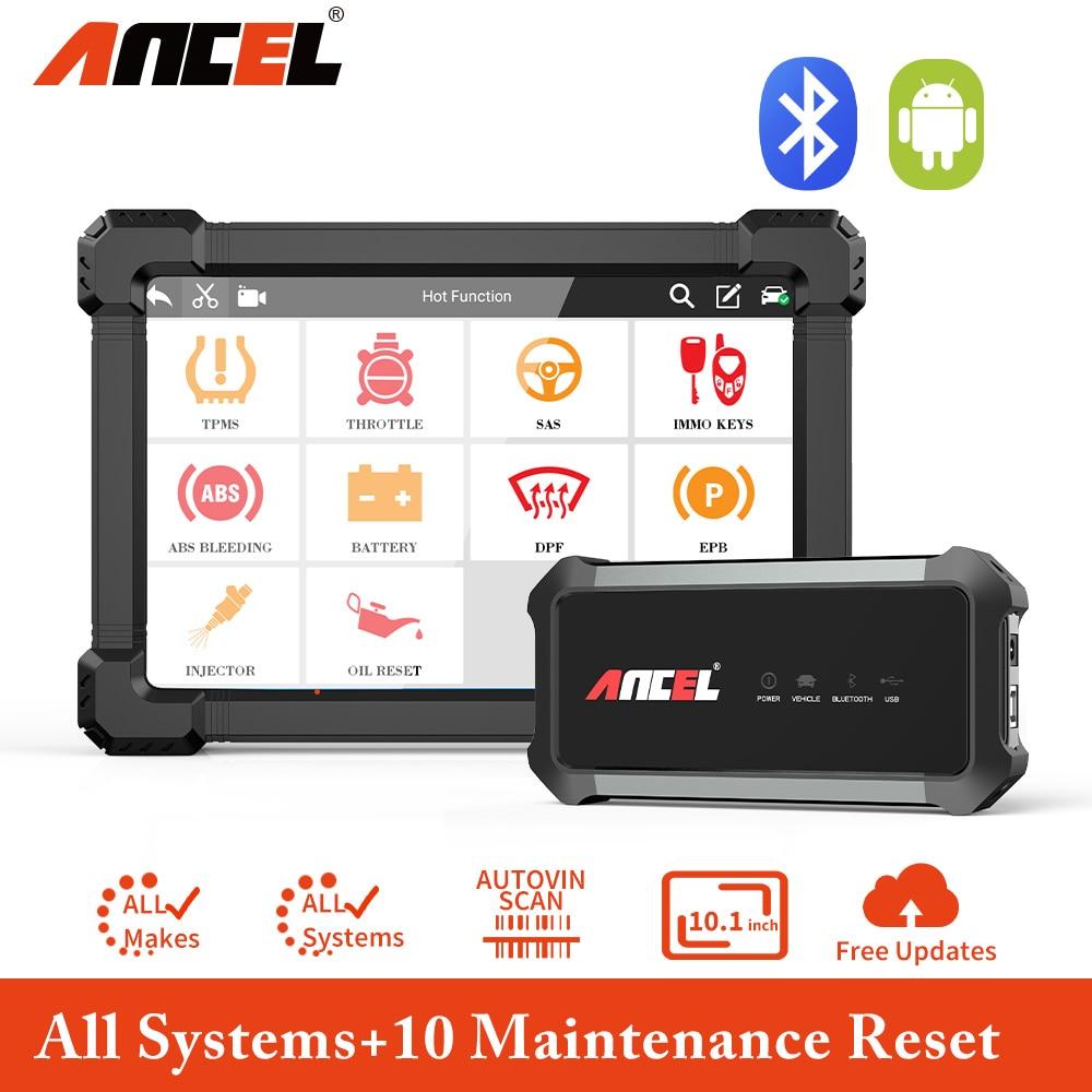 ANCEL X7 tam sistem OBD2 Bluetooth otomotiv tarayıcı profesyonel IMMO hava yastığı DPF yağ enjektör kodlama OBD2 araç teşhis aracı