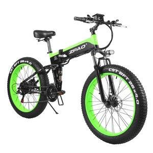 Складной электрический велосипед ZPAO, размер колес 26 дюймов, 4,0, 48 В, 1000 Вт, ЖК-дисплей с USB разъемом, съемный аккумулятор