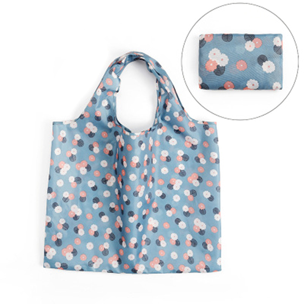Fashion Foldable Oxford Cloth Shopping Bag Ladies Reusable Printed Green Organizer Portable Bags Hot Sale Shopping Bags