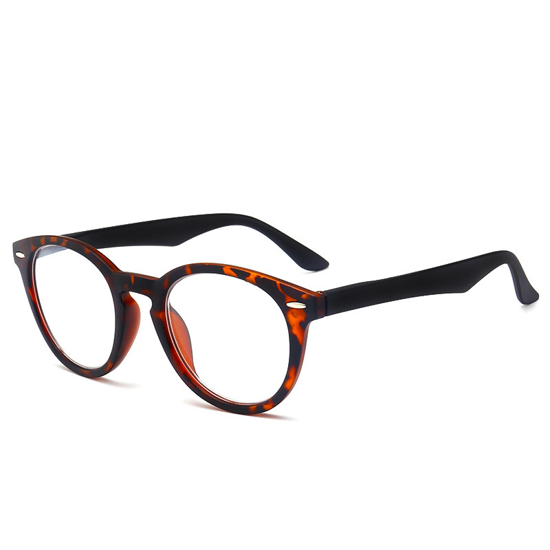 2Pcs Retro Round Reading Glasses Presbyopia Computer Spectacles Ultralight Leopard Magnifier +100 +150 +200 +250 +300 +350 +<font><b>400</b></font> image