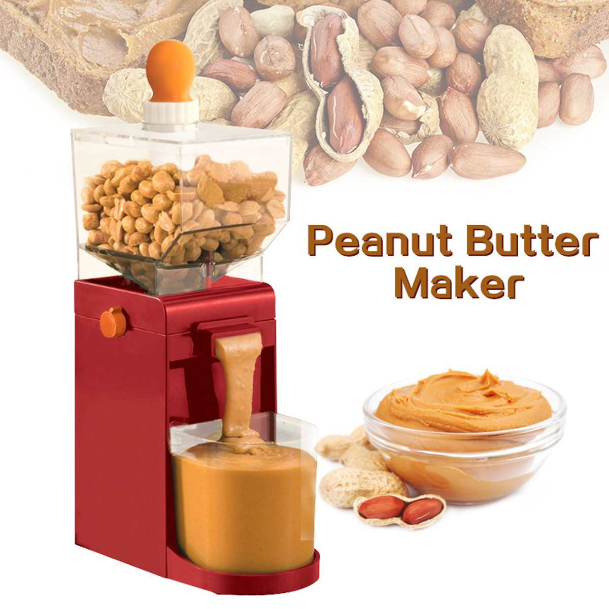 Mini Household Electric Peanut Butter Maker Electric Grinding Nut Butter Coffee Maker Grinding Machine Cooking Tools