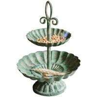 Antike Vintage Handarbeit 2 Tiered Platte Metall Stand Sockel Platte Metall Lagerung Trays-in Geschirr & Platten aus Heim und Garten bei