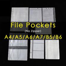A4/a5/a6/a7/b5/b6 прозрачный пакет связующего карманное наполнение