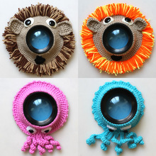 Studio Creative Props Photography Accessories Hand Knitting Camera Lens Decorative Ring Pendant Baby Photo Guide Doll Cute Toy