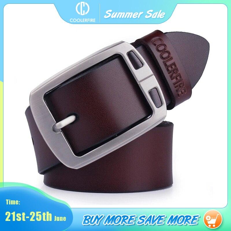 cowhide genuine leather belts for men cowboy Luxury strap brand male vintage fancy jeans designer belt men high quality