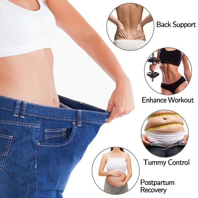 Women Gym Workout Waist Trainer Back Lumbar Support Weight Loss Trimmer Sport Girdle Sauna Sweat Belt Fitness Slimming Corset 1