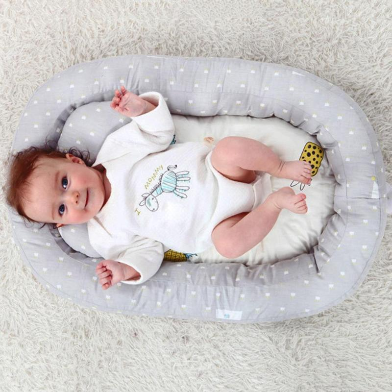 Baby Nest Bed Travel Crib Removable Infant Sleeping Cotton Cradle For Bassinet Removable Pillow Independently Adaptability