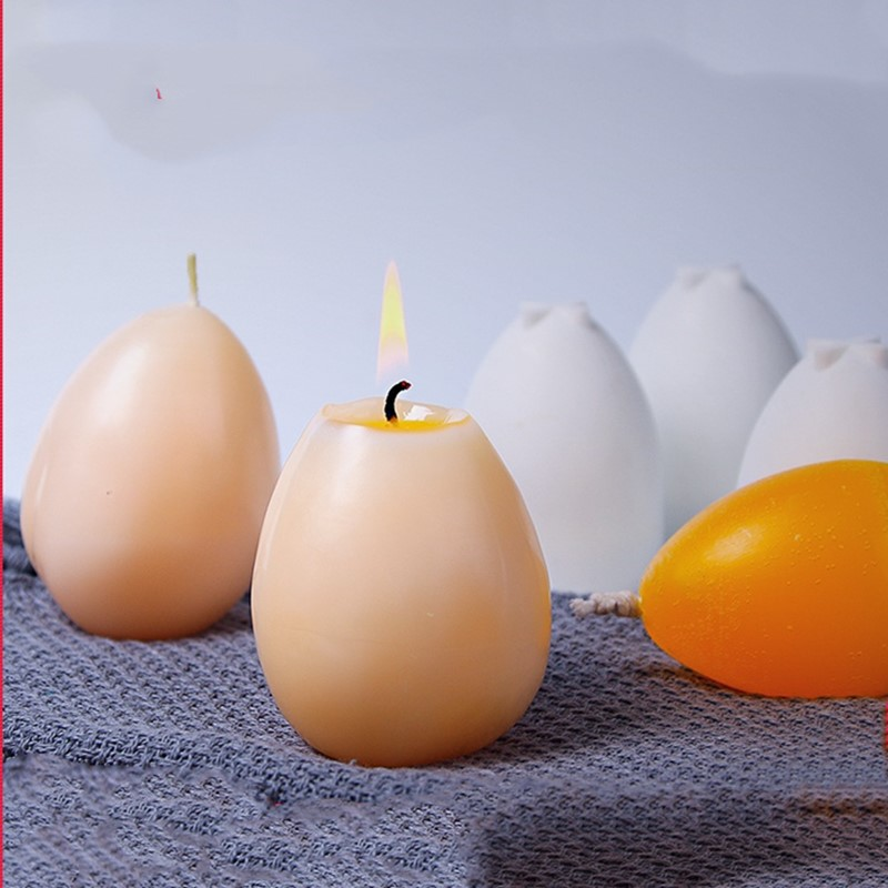 Easter Handmade Candle Mold Egg Shape Candles Soap Mould Tool Candle Making Crafts Moulds
