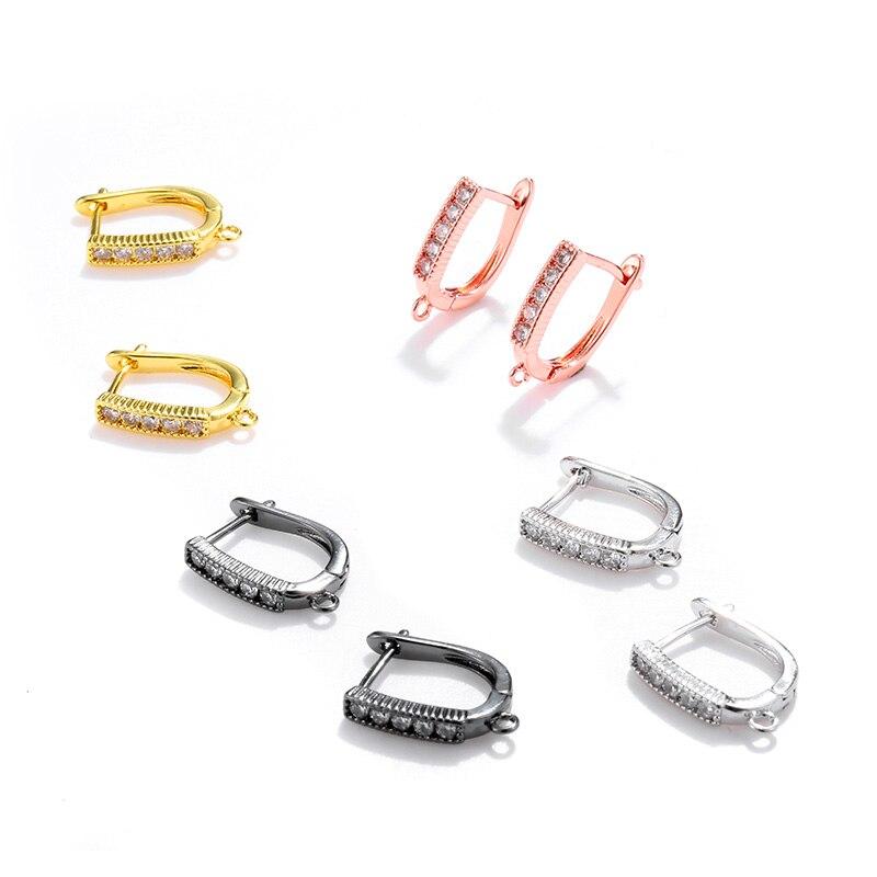 4 цвета, крючки для сережек, аксессуары для изготовления украшений вручную, кристаллы, жемчуг, кисточки, серьги, сделай сам, для женщин, для свадьбы Серьги-гвоздики      АлиЭкспресс