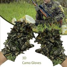 Outdoor Climbing Cycling Maple leaves Bionic Camouflage Shooting Hunting thin Gloves Non-slip Gloves For Hunting Bird Watching