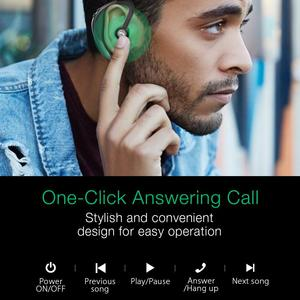 Image 3 - BlitzWolf Dynamische Stereo IPX5 bluetooth 5,0 Drahtlose Kopfhörer Licht Einzelnen Business Sport Headset Freisprecheinrichtung HD Anrufe Ohrbügel
