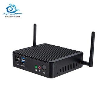 Mini PC sans ventilateur double LAN Celeron J1900 Quad Core Windows 10 Wifi HDMI ménage PC HTPC TV boîte mince Client Mini ordinateur