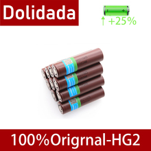 2020 New Dolidada 100% original 18650 battery HG2 3000 mah 3,7 v rechargeable battery for LG HG2 18650 lithium battery 3000 mah