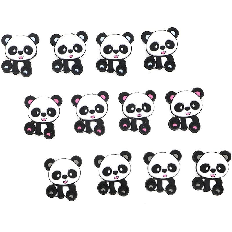 10 шт./лот kovict китайская мини панда, силиконовые бусины, детский манекен, мультяшная соска, игрушки, аксессуары