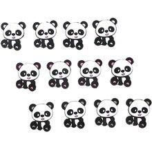 Kovict 10 pc/lote mini acessórios de brinquedo, chupeta de desenho animado de bebê, panda chinês