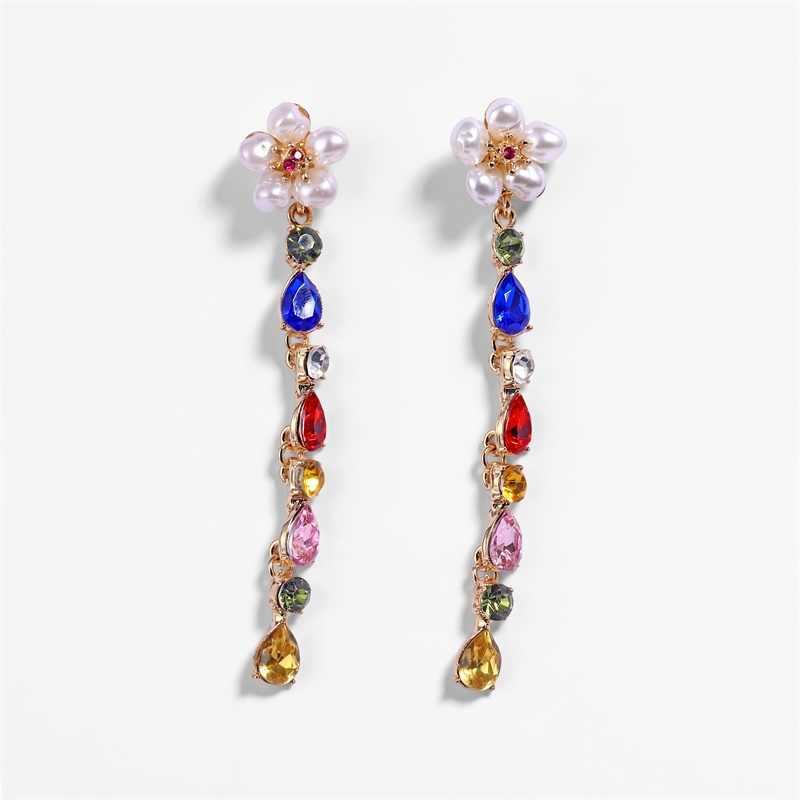 KISSWIFE Boho Exaggerated Metal Pearl Drop Earrings ZA New Creative Gold Alloy Circle Earrings Female Jewelry Gift