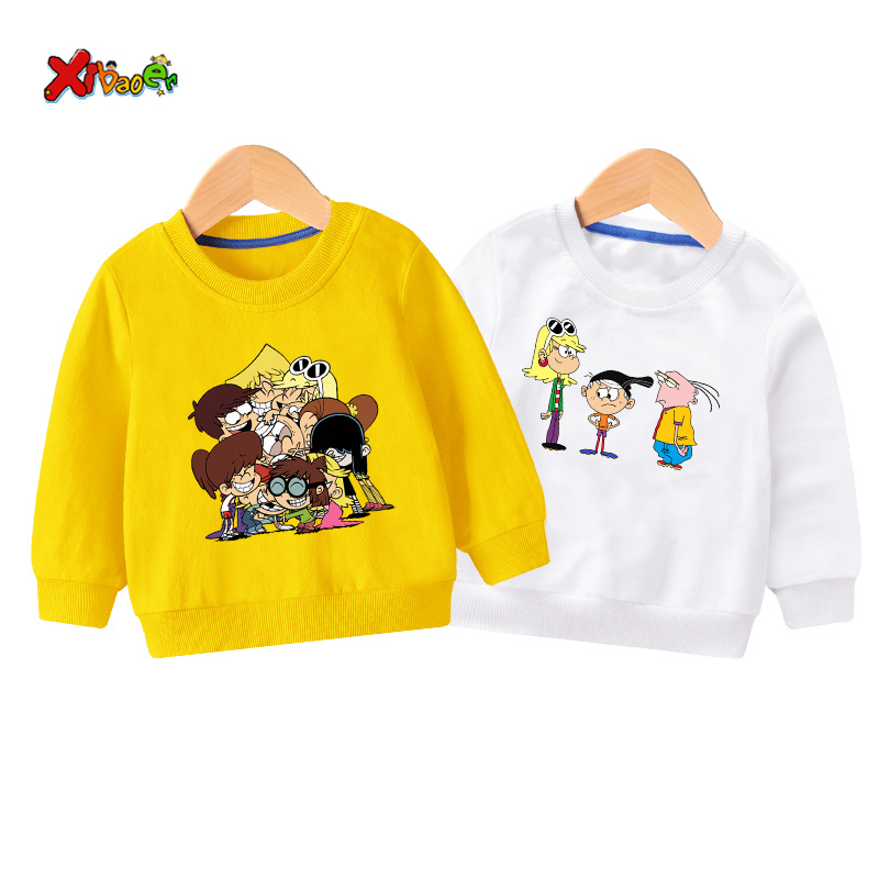 kids sweatshirt hoodies the loud house toddler sweatshirts baby girl Cartoon long sleeves outfit white boys clothes