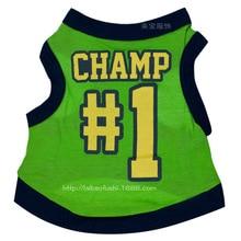 Vest Medium-Clothes Dog Green Perro Spring Cartoon Summer Cute Lovely Letter Cool Jersey