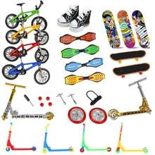 Палец скейтборды велосипеды Tech два колеса от мини-скутера пальца Bmx велосипед набор кленовым грифом обувь игрушки для мальчиков, подарки дл...
